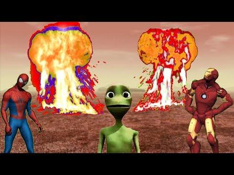 Dame Tu Cosita SPEED CHALLENGE funny fast dance el chombo desafio with Super Heroes Hulk Iron Man S