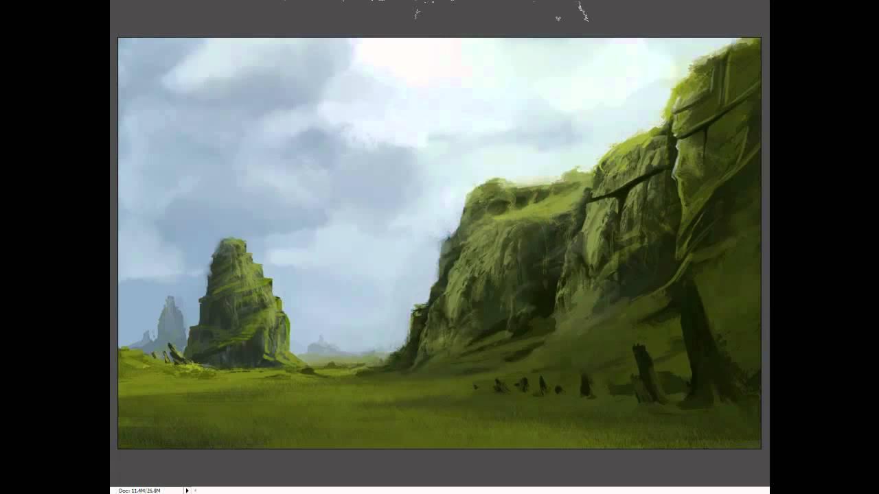 Speedpainting tutorial epic landscape youtube baditri Images