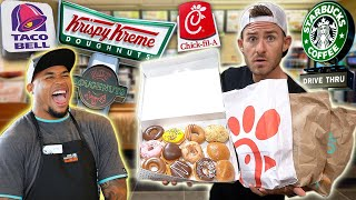 I LET FAST FOOD WORKERS PICK MY FOOD CHALLENGE!