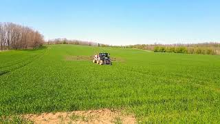 John Deere & Holder IN250 wheat spraying