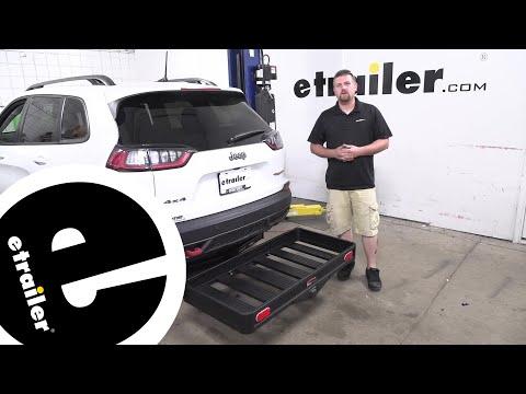 etrailer   Curt Hitch Cargo Carrier Review - 2019 Jeep Cherokee