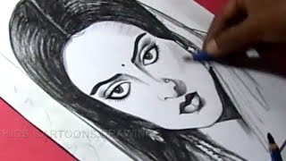 How to Draw Hindi FILM Actress REKHA Drawing For Kids