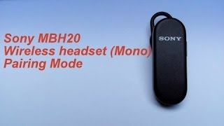 How-to pair Sony MBH20 | Guide | Haresh