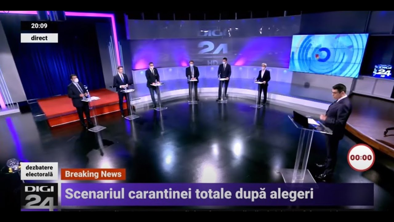 Dezbatere Digi24 înainte de alegerile parlamentare din 6 decembrie - Digi 24 - Jurnalul de seară
