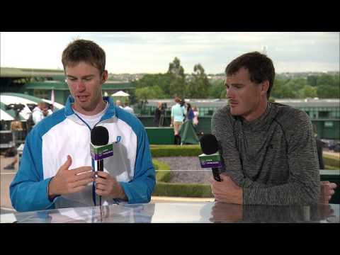 Jamie Murray and John Peers visit the Live @ Wimbledon studio