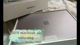 2019 macbook air unboxing (13 inch) || space grey, 128gb