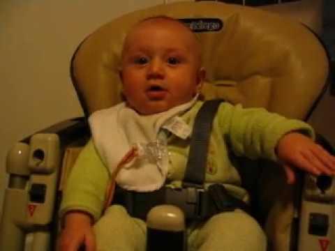 Baby waits for bath - YouTube