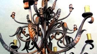 Идеи дизайна кованых люстр модели варианты примеры как сделать кованую люстру из металла