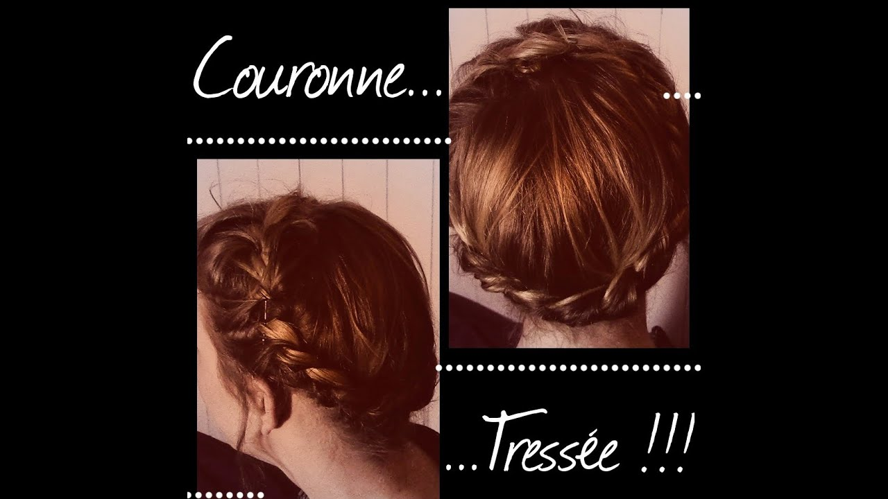 Coiffure couronne tress e youtube - Coiffure couronne tressee ...