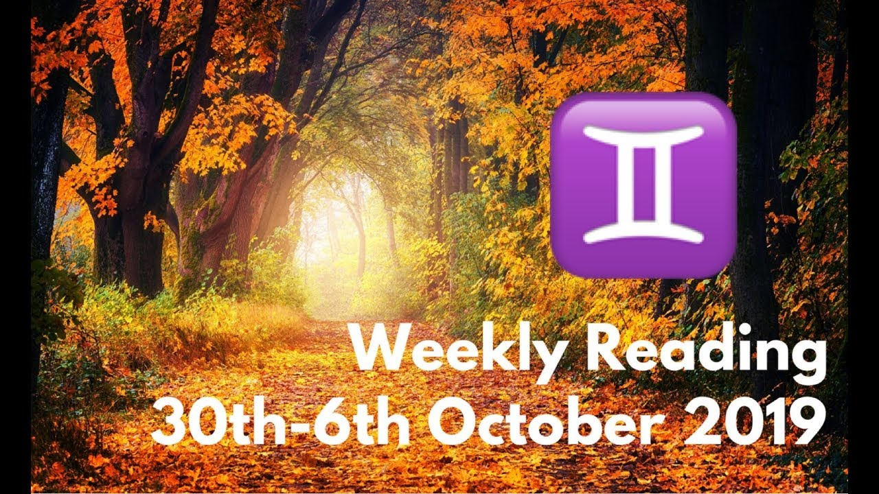 gemini weekly tarot october 29 2019