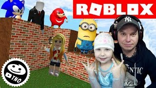 CONDITION AND SURVIVE THE MONSTERS IN ROBLOX! Build to Survive 2! | Daddy and Barunka CZ/SK