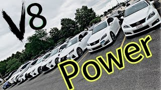 Lexus RCF GSF ISF Burnouts!!! 2019 Chicago F Club First Meet