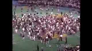 Crowd storms field 1995 American West tie-breaker, Seattle Mariners Angels, Kingdome