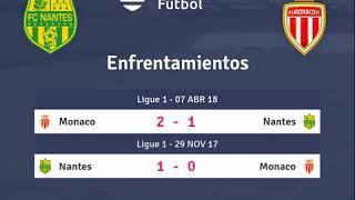 Previa Nantes vs Monaco - Jornada 1 - Ligue 1 2018 - Pronósticos y horarios