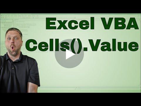 Excel Vba Cell Value