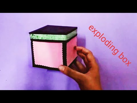 how to make exploding box /paper box for scrapbook