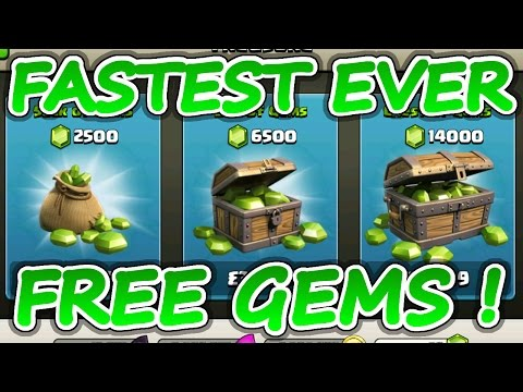 CLASH OF CLANS FREE GEMS FOR EVERYONE! | FASTEST FREE GEMS EVER ANDROID & iOS!