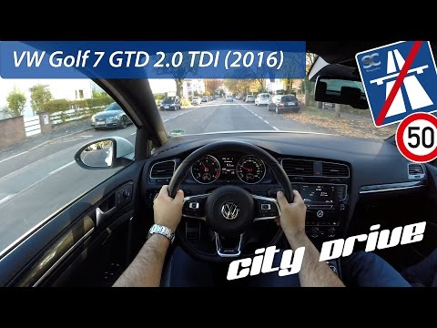 VW Golf 7 GTD 2.0 TDI (2016) - POV City Drive