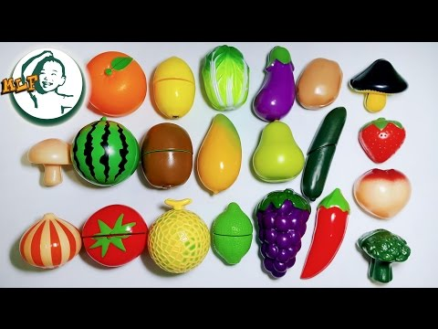 Thumbnail: Learn names of fruits and vegetables by a simple matching game for kids|果物と野菜|