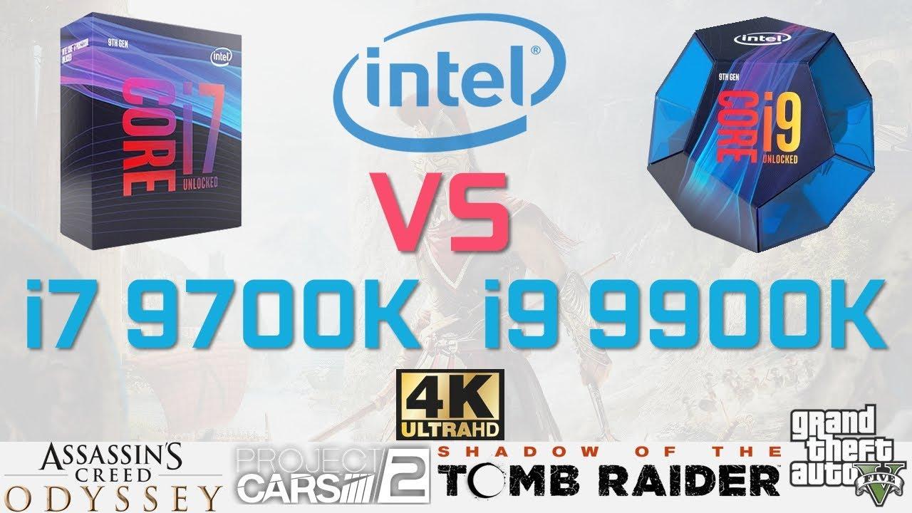 INTEL i9 9900K vs i7 9700K Benchmark and Test in 5 Games