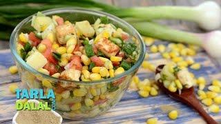 Paneer And Corn Chatpata Salad By Tarla Dalal