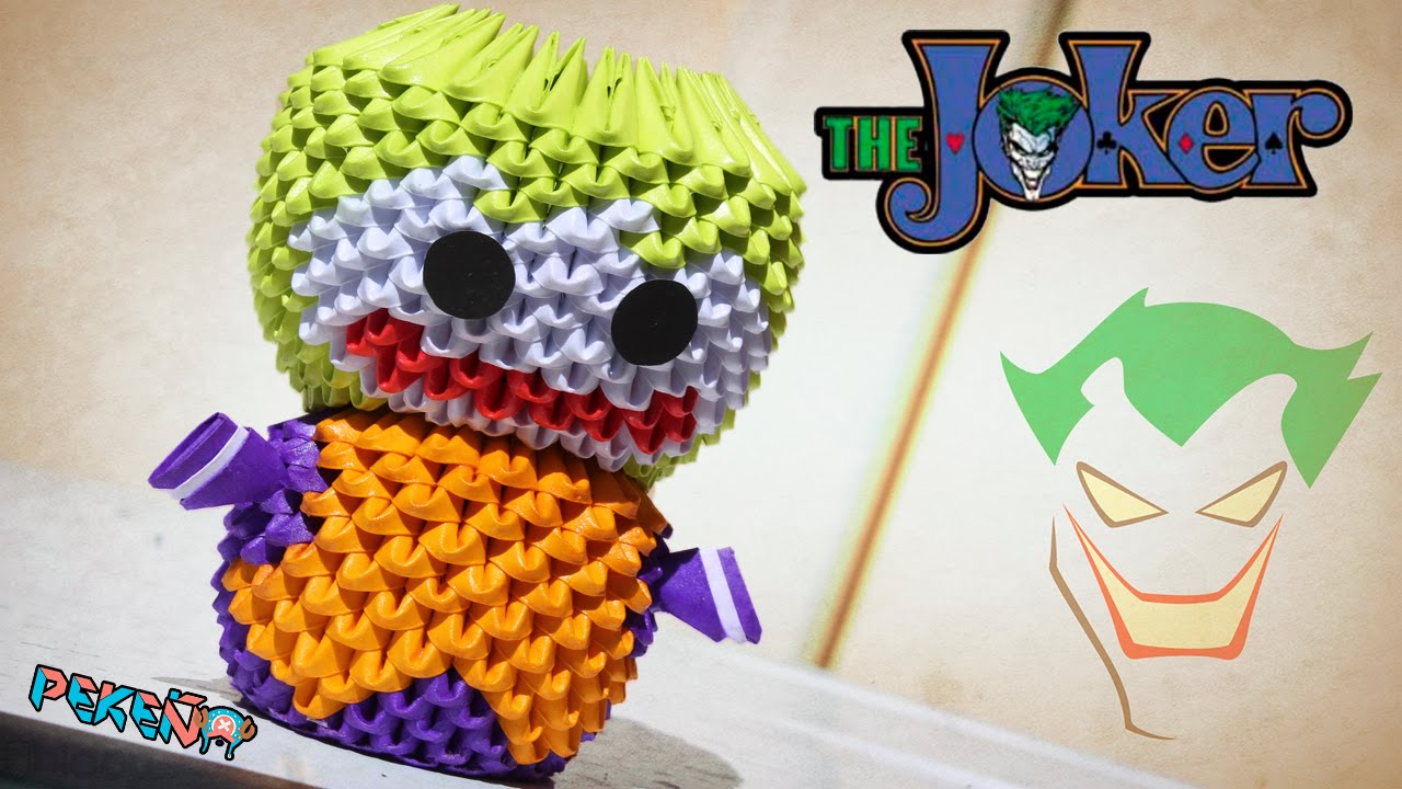 Joker 3d origami pekeo youtube jeuxipadfo Image collections