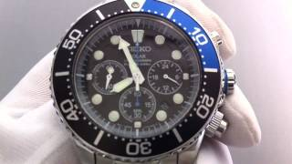 Men's Seiko Solar Diver's Chronograph Watch SSC017(, 2013-01-14T21:20:24.000Z)