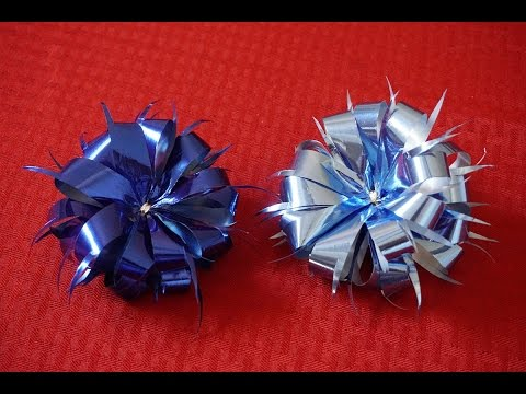 How to make an easy gift ribbon bow for Christmas gifts
