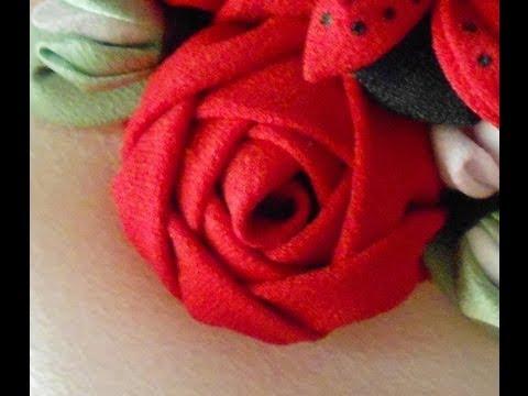 Como hacer una rosa de tela youtube - Como secar una rosa ...