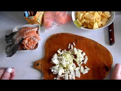 Суп из хребтов лосося.. быстро и вкусно