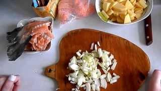 Суп из хребтов лосося.. быстро и вкусно(Мое первое видео о кулинарии (поддалась на уговоры мужа) посмотрим как пойдет, может в дальнейшем будет..., 2015-04-27T20:05:12.000Z)