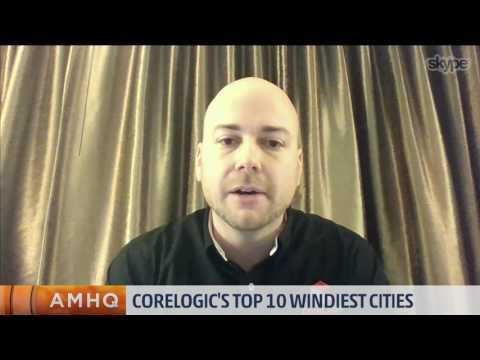 CoreLogic's Top 10 Windiest Cities