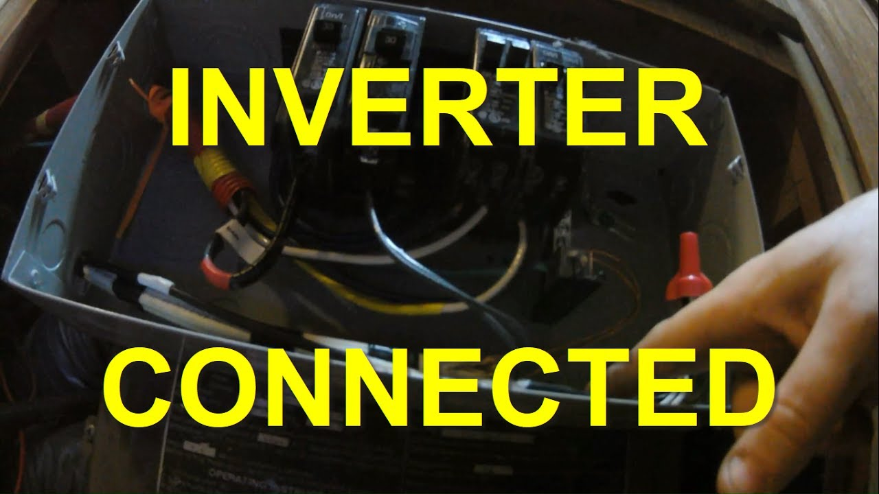 Connecting Inverter To Rv Breaker Box Youtube Wiring Up