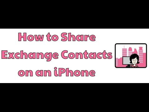 How to Share Exchange Contacts on an iPhone