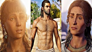 Assassin's Creed Odyssey - All Romance Scenes (All Alexios Romances)