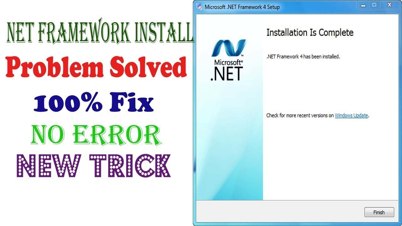 How to install Net Framework 4 on windows 7 ।| fix net framework v4 ...