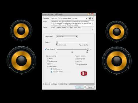 best audio render settings for acid pro