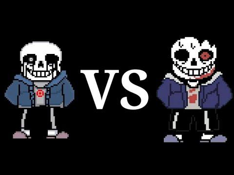Horror Sans Vs Killer Sans Fight (A big shout out to ACoolGuy for killer theme song)