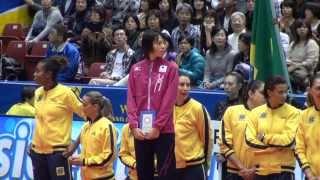 2013女子バレー グラチャン 表彰式 ウィングスパイカー賞 迫田さおり