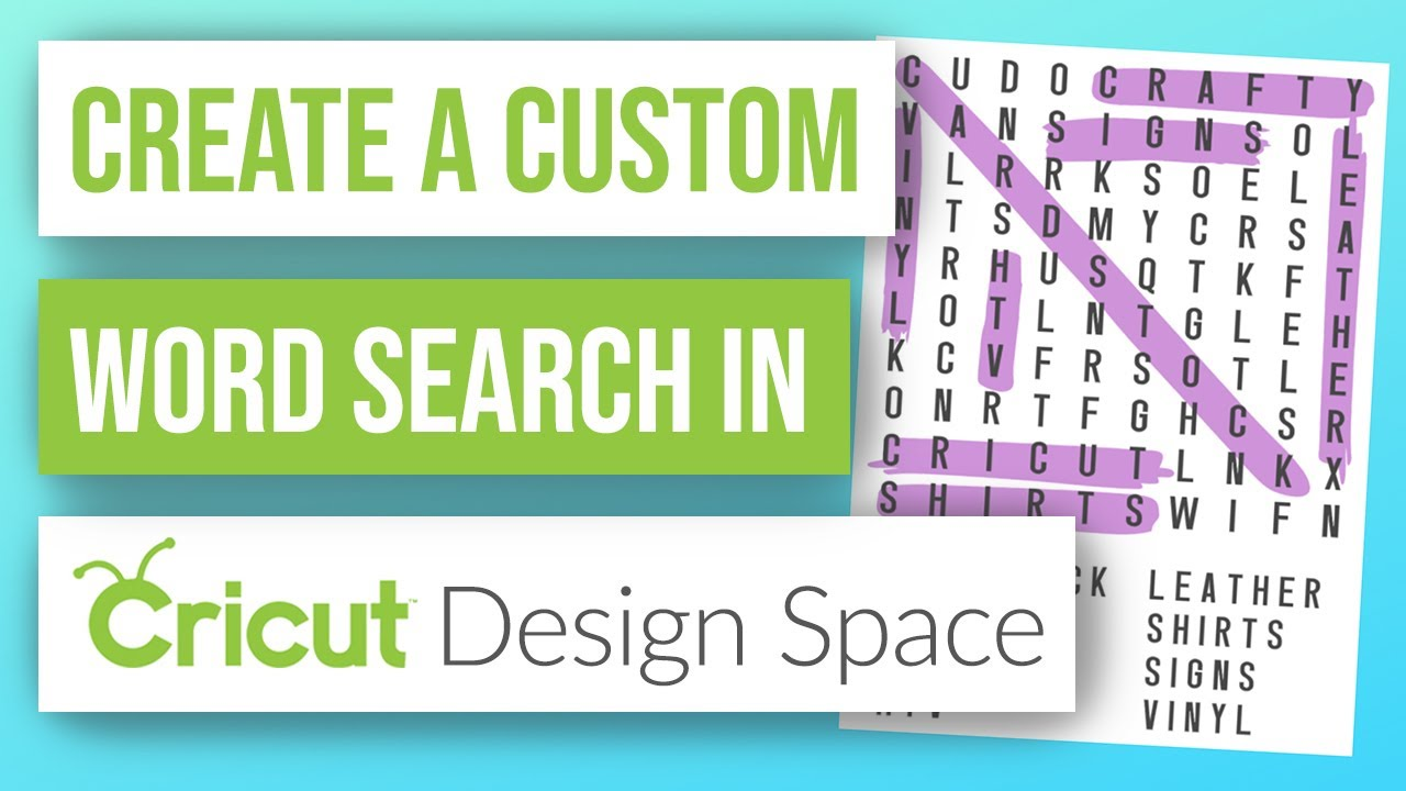 🤓How to Create a Custom Word Search in Cricut Design Space