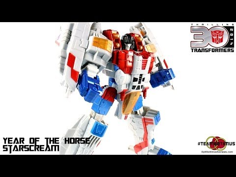video Review of the Transformers Year of the Horse Starscream
