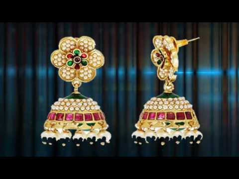 Gold Earrings Collection Diamond Earring Design Earring Designs clip18
