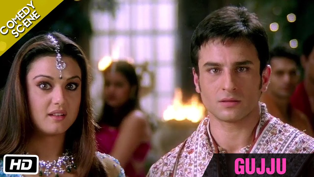 """GUJJU"" - Comedy Scene - Kal Ho Naa Ho - Shahrukh Khan, Saif Ali Khan & Preity Zinta #1"