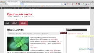 видео Создание сайта Часть № 1: Установка WordPress