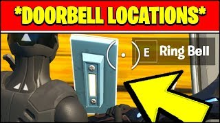RING THE DOORBELL OF A HOUSE WITH AN OPPONENT INSIDE LOCATIONS (Fortnite CHALLENGES)
