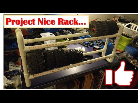 Project Nice Rack - DIY Quick and Cheap PVC RC Tire Rack