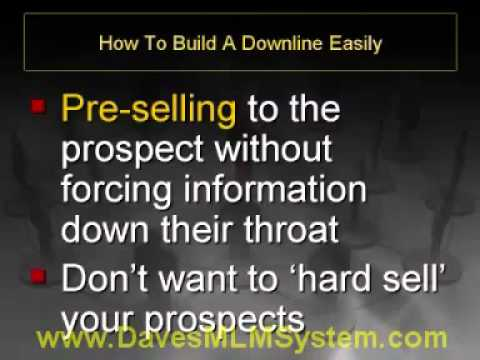 How To Build A Downline Easily