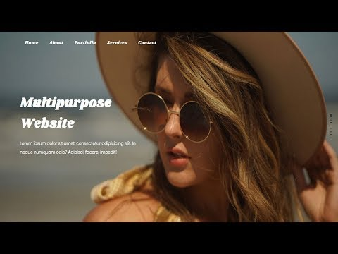 Responsive Full screen One Page Scrolling Website | pagePiling js | Jquery Plugin tutorial thumbnail