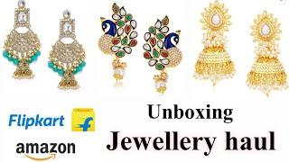 Review of amazon/flipkart jewellery |zaveri pearls earrings |sukkhi earrings |jewellery haul