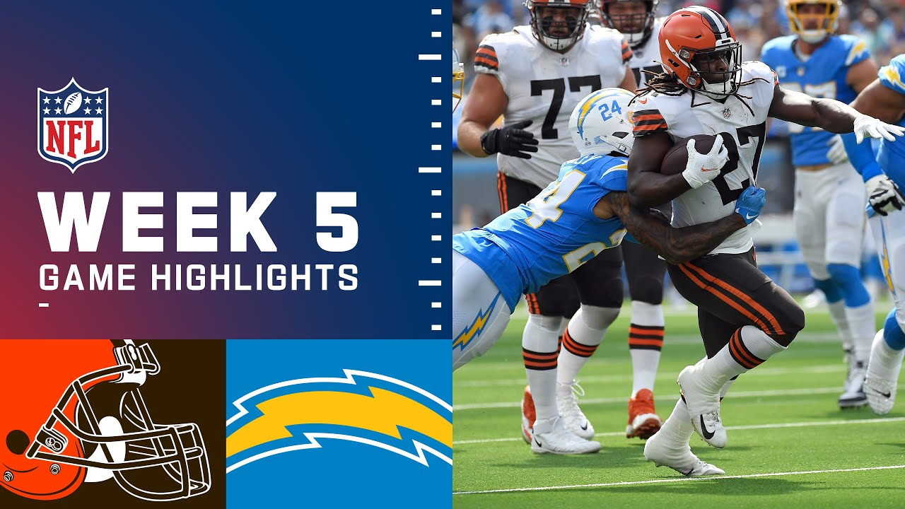 Download Browns vs. Chargers Week 5 Highlights   NFL 2021